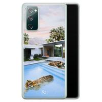 ELLECHIQ Samsung Galaxy S20 FE siliconen hoesje - Tiger pool