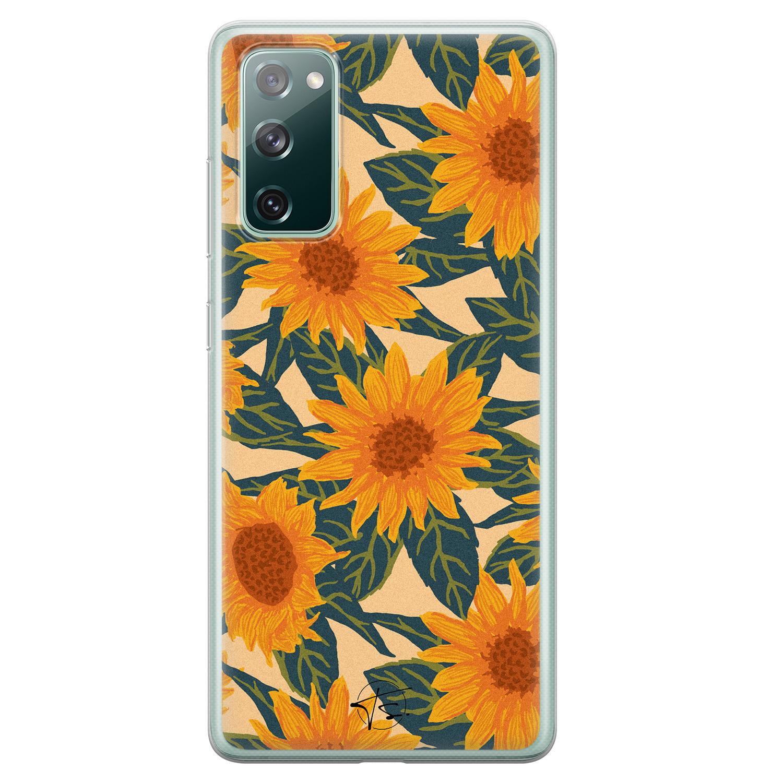 Telefoonhoesje Store Samsung Galaxy S20 FE siliconen hoesje - Zonnebloemen