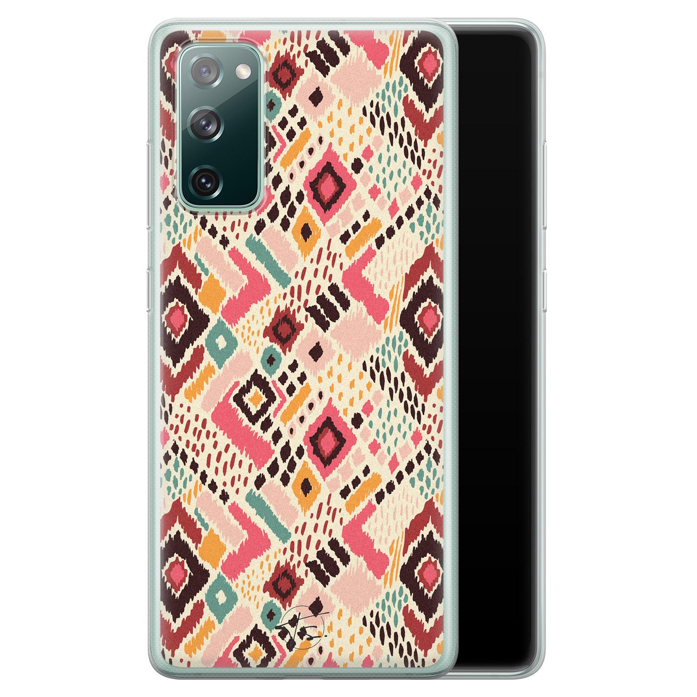 Telefoonhoesje Store Samsung Galaxy S20 FE siliconen hoesje - Boho vibes