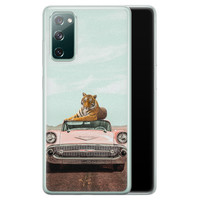 ELLECHIQ Samsung Galaxy S20 FE siliconen hoesje - Chill tijger
