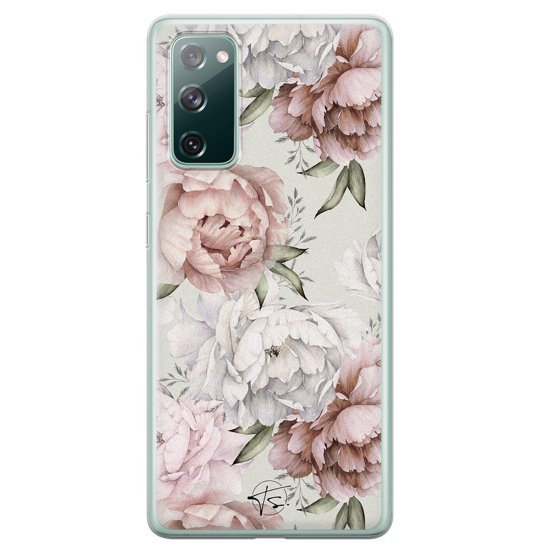 Telefoonhoesje Store Samsung Galaxy S20 FE siliconen hoesje - Romantische bloemen