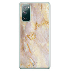 ELLECHIQ Samsung Galaxy S20 FE siliconen hoesje - Stay Golden Marble