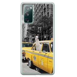ELLECHIQ Samsung Galaxy S20 FE siliconen hoesje - Lama in taxi