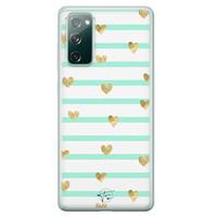 Telefoonhoesje Store Samsung Galaxy S20 FE siliconen hoesje - Mint hartjes