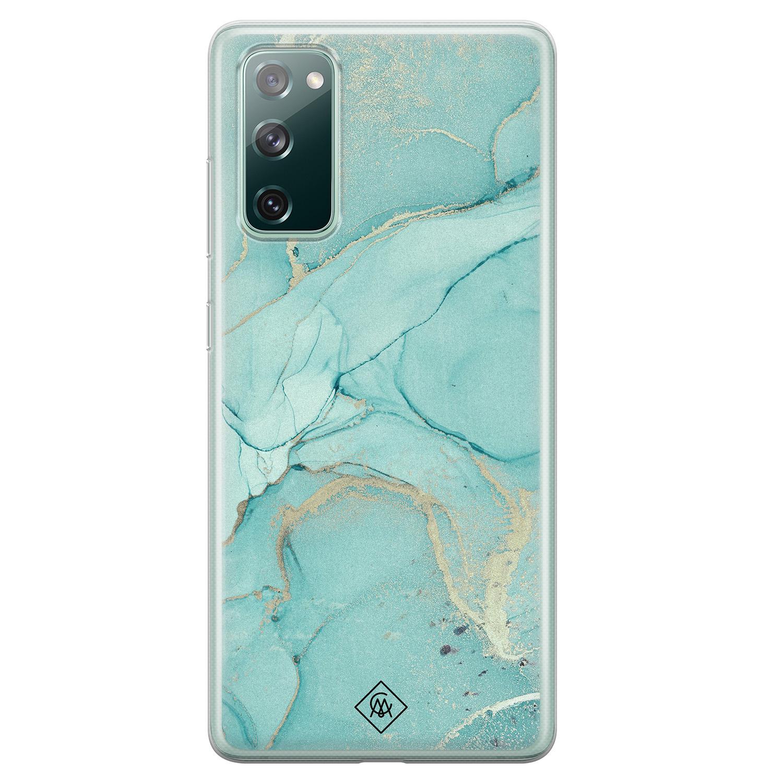 Casimoda Samsung Galaxy S20 FE siliconen hoesje - Touch of mint