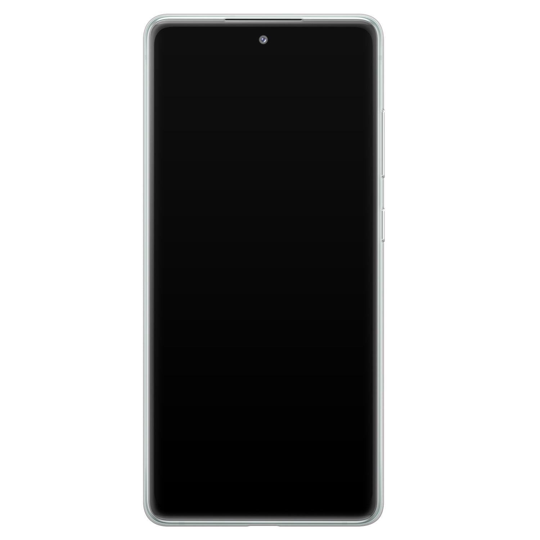 Leuke Telefoonhoesjes Samsung Galaxy S20 FE siliconen hoesje - Abstract gezicht lijnen
