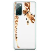 Leuke Telefoonhoesjes Samsung Galaxy S20 FE siliconen hoesje - Giraffe peekaboo