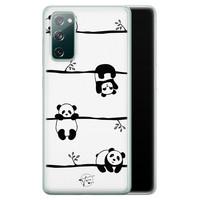 Telefoonhoesje Store Samsung Galaxy S20 FE siliconen hoesje - Panda