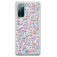 Telefoonhoesje Store Samsung Galaxy S20 FE siliconen hoesje - Purple Garden