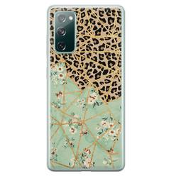 Leuke Telefoonhoesjes Samsung Galaxy S20 FE siliconen hoesje - Luipaard flower print