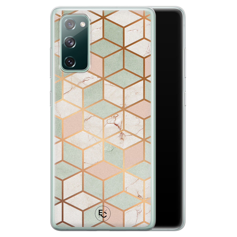 ELLECHIQ Samsung Galaxy S20 FE siliconen hoesje - Pastel Kubus