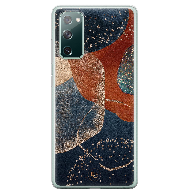 ELLECHIQ Samsung Galaxy S20 FE siliconen hoesje - Abstract Terracotta