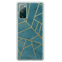 Telefoonhoesje Store Samsung Galaxy S20 FE siliconen hoesje - Abstract blauw