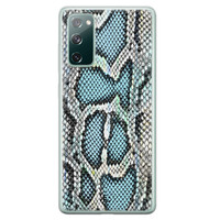 ELLECHIQ Samsung Galaxy S20 FE siliconen hoesje - Baby Snake blue