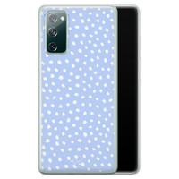 Telefoonhoesje Store Samsung Galaxy S20 FE siliconen hoesje - Purple dots