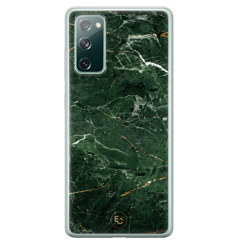 ELLECHIQ Samsung Galaxy S20 FE siliconen hoesje - Marble jade green