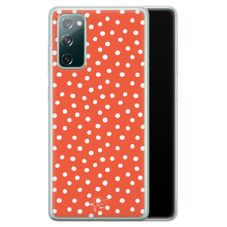Telefoonhoesje Store Samsung Galaxy S20 FE siliconen hoesje - Orange dots