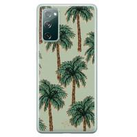 Telefoonhoesje Store Samsung Galaxy S20 FE siliconen hoesje - Palmbomen