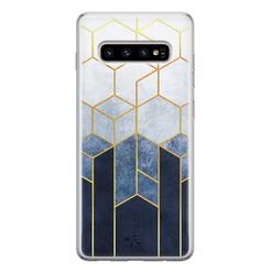 Telefoonhoesje Store Samsung Galaxy S10 siliconen hoesje - Geometrisch fade art