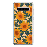 Telefoonhoesje Store Samsung Galaxy S10 siliconen hoesje - Zonnebloemen