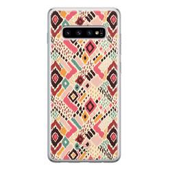 Telefoonhoesje Store Samsung Galaxy S10 siliconen hoesje - Boho vibes