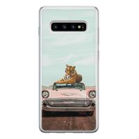 ELLECHIQ Samsung Galaxy S10 siliconen hoesje - Chill tijger