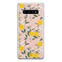 Telefoonhoesje Store Samsung Galaxy S10 siliconen hoesje - Citroenen