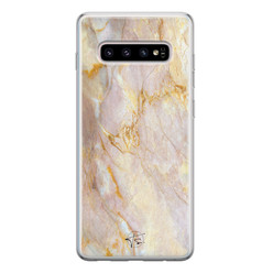ELLECHIQ Samsung Galaxy S10 siliconen hoesje - Stay Golden Marble