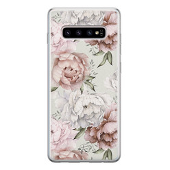 Telefoonhoesje Store Samsung Galaxy S10 siliconen hoesje - Classy flowers