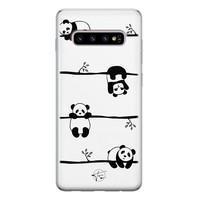 Telefoonhoesje Store Samsung Galaxy S10 siliconen hoesje - Panda