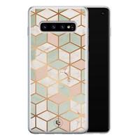 ELLECHIQ Samsung Galaxy S10 siliconen hoesje - Pastel Kubus