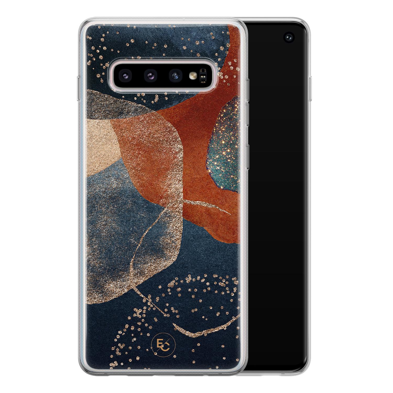 ELLECHIQ Samsung Galaxy S10 siliconen hoesje - Abstract Terracotta