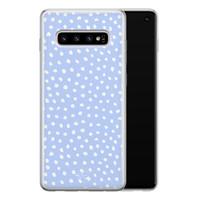 Telefoonhoesje Store Samsung Galaxy S10 siliconen hoesje - Purple dots