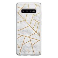 Telefoonhoesje Store Samsung Galaxy S10 siliconen hoesje - Geometrisch marmer
