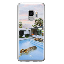 ELLECHIQ Samsung Galaxy S9 siliconen hoesje - Tiger pool
