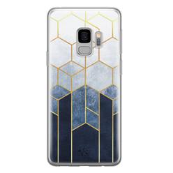 Telefoonhoesje Store Samsung Galaxy S9 siliconen hoesje - Geometrisch fade art