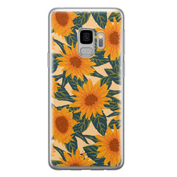 Telefoonhoesje Store Samsung Galaxy S9 siliconen hoesje - Zonnebloemen
