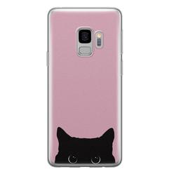 Telefoonhoesje Store Samsung Galaxy S9 siliconen hoesje - Zwarte kat