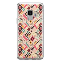 Telefoonhoesje Store Samsung Galaxy S9 siliconen hoesje - Boho vibes
