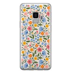 Telefoonhoesje Store Samsung Galaxy S9 siliconen hoesje - Romantische bloemen