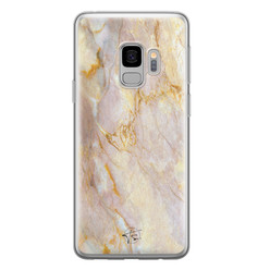 ELLECHIQ Samsung Galaxy S9 siliconen hoesje - Stay Golden Marble