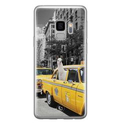 ELLECHIQ Samsung Galaxy S9 siliconen hoesje - Lama in taxi