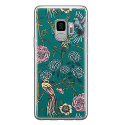 Telefoonhoesje Store Samsung Galaxy S9 siliconen hoesje - Bloomy birds