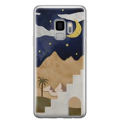 Leuke Telefoonhoesjes Samsung Galaxy S9 siliconen hoesje - Desert night