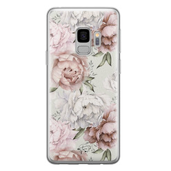 Telefoonhoesje Store Samsung Galaxy S9 siliconen hoesje - Classy flowers