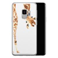 Leuke Telefoonhoesjes Samsung Galaxy S9 siliconen hoesje - Giraffe peekaboo
