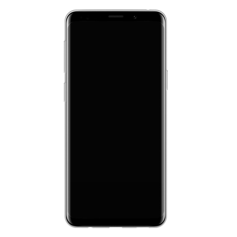 Telefoonhoesje Store Samsung Galaxy S9 siliconen hoesje - Abstract blauw
