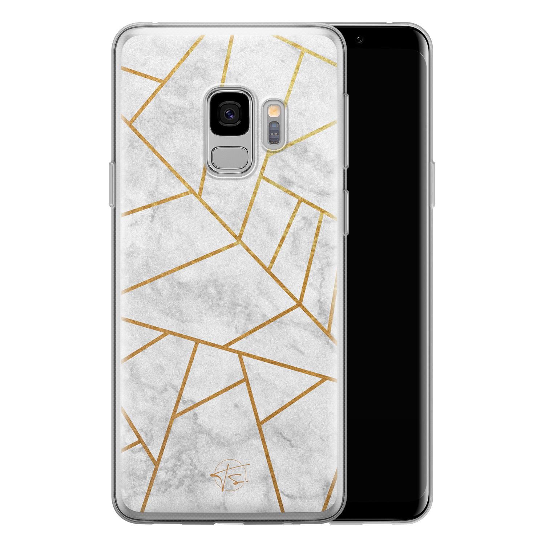 Telefoonhoesje Store Samsung Galaxy S9 siliconen hoesje - Geometrisch marmer