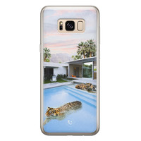 ELLECHIQ Samsung Galaxy S8 siliconen hoesje - Tiger pool