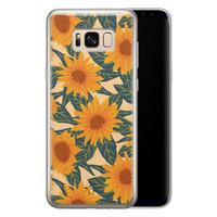 Telefoonhoesje Store Samsung Galaxy S8 siliconen hoesje - Zonnebloemen